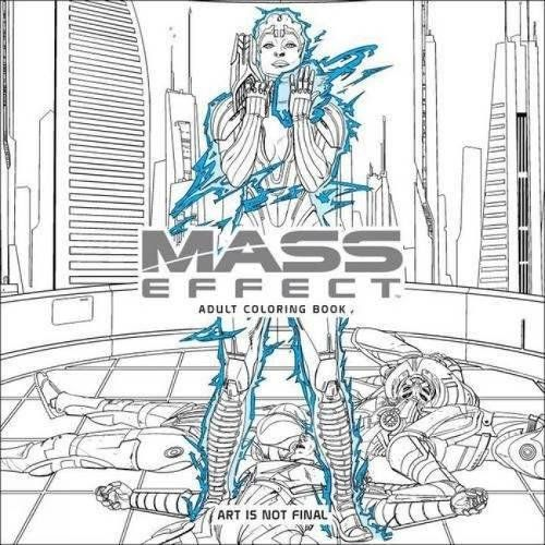 Mass Effect Adult Coloring Book Bioware Books The Coolest
