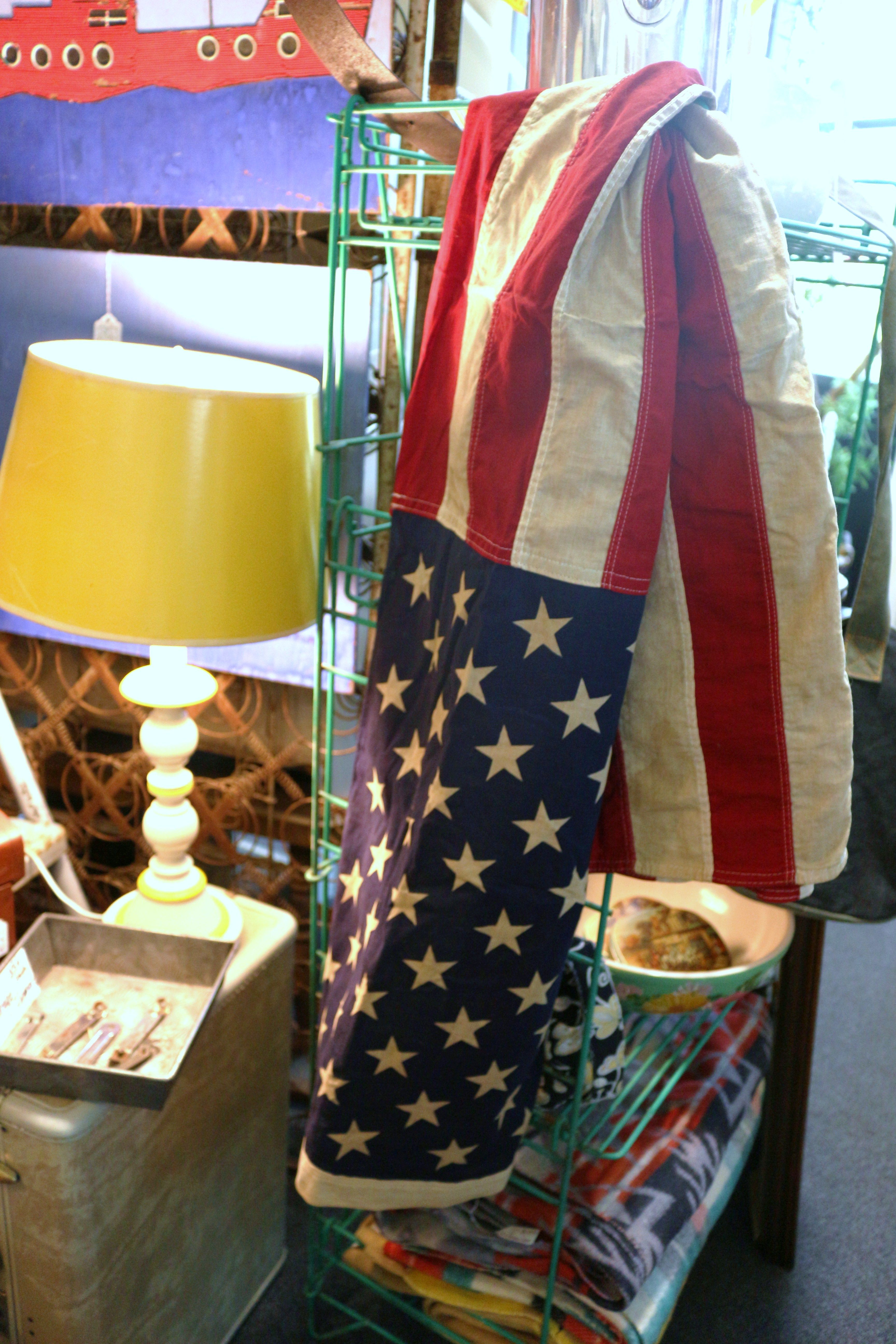 Vintage 50-star American flag in great condition! Just $38 in our second building The Antique Warehouse Too!
