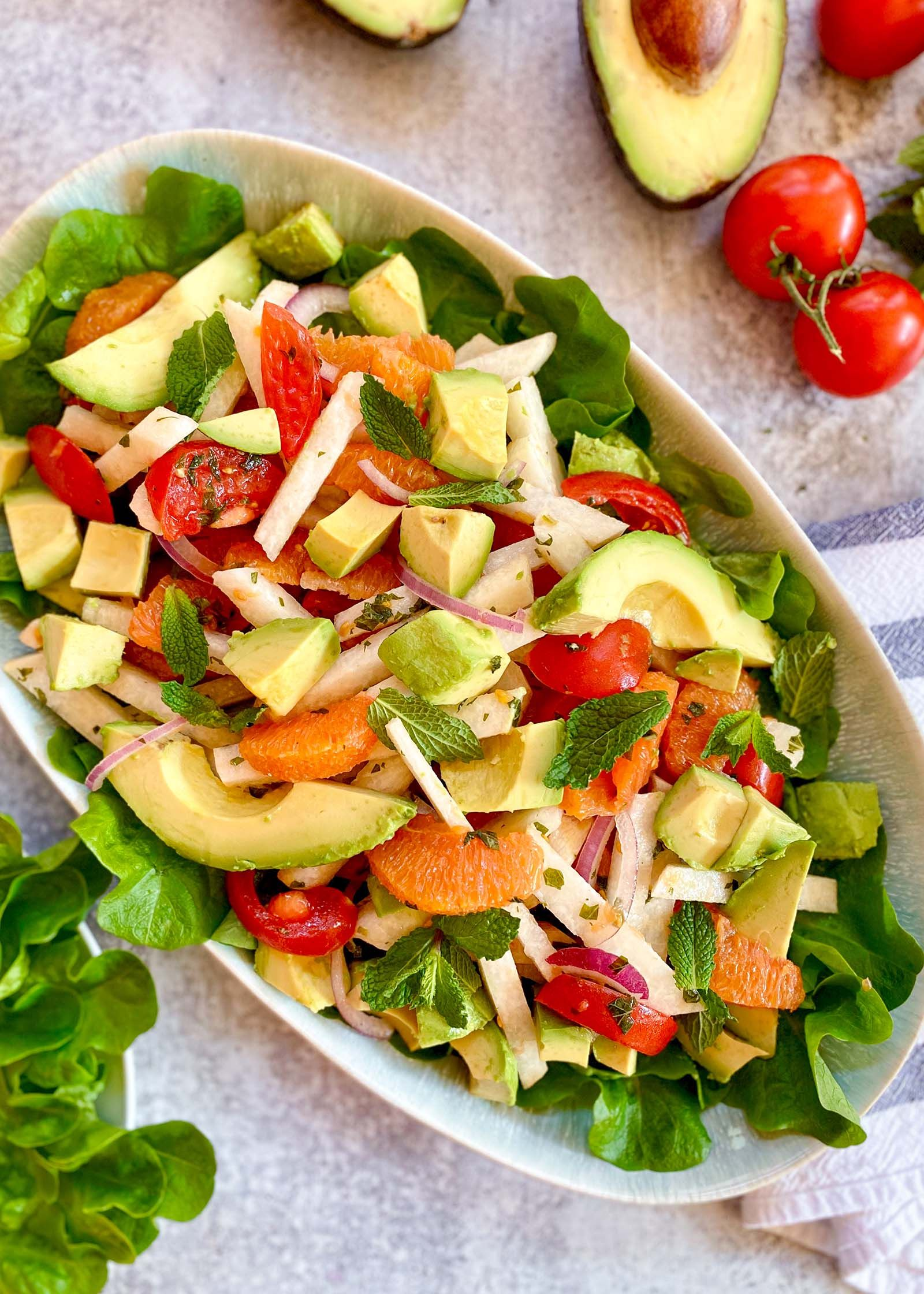 Jicama Avocado And Orange Salad Recipe Orange Salad Recipes Jicama Salad Recipes