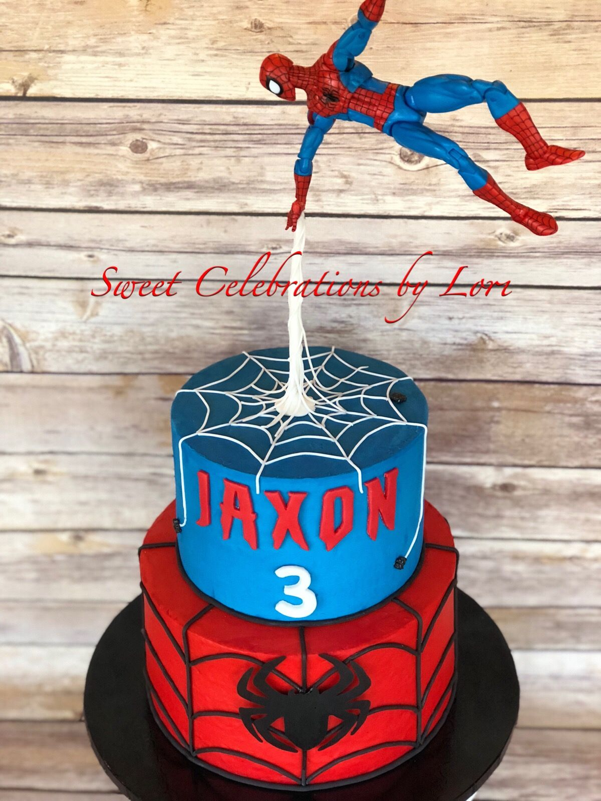 Terrific Gravity Defying Spider Man Cake By Sweet Celebrations By Lori In Funny Birthday Cards Online Overcheapnameinfo