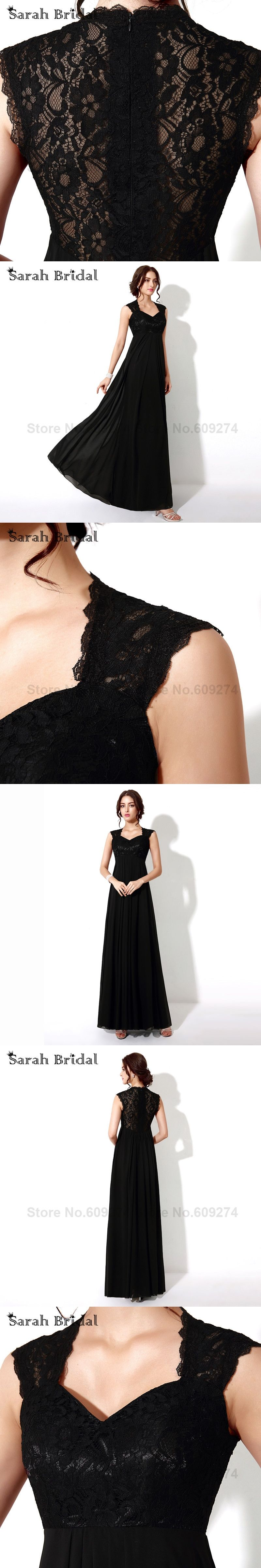 Black lace prom dresses long in stock vestido de fiesta negro