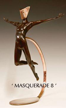 Sculpture: MASQUERADE 10 (bronze) by sculptor David G