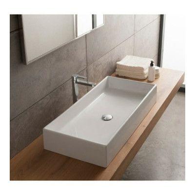 Teorema Ceramic Rectangular Vessel Bathroom Sink Ceramic Bathroom Sink Rectangular Vessel Sink Wall Mounted Bathroom Sinks