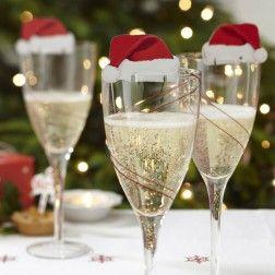 Christmas Cheer Glass Decorations - Santa Christmas Cheer Party - Kids Christmas Party Themes - Christmas