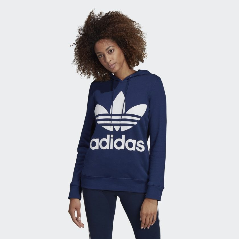 599e18a9de Trefoil Hoodie Dark Blue XL Womens in 2019 | Clothes | Adidas ...