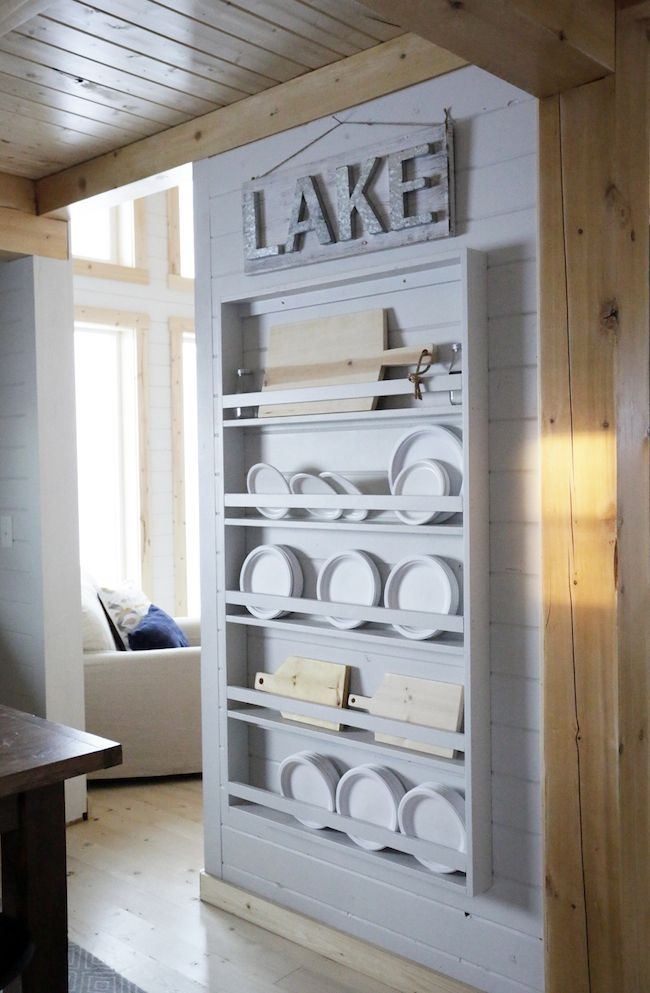 Full Length Plate Rack For Our Cabin Wooden Plate Rack Plate Rack Wall Plate Shelves