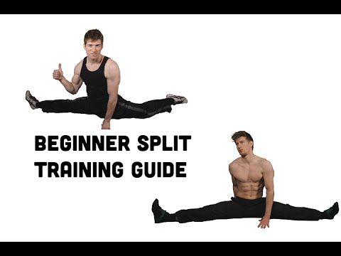 beginner front and side split training free flexibility