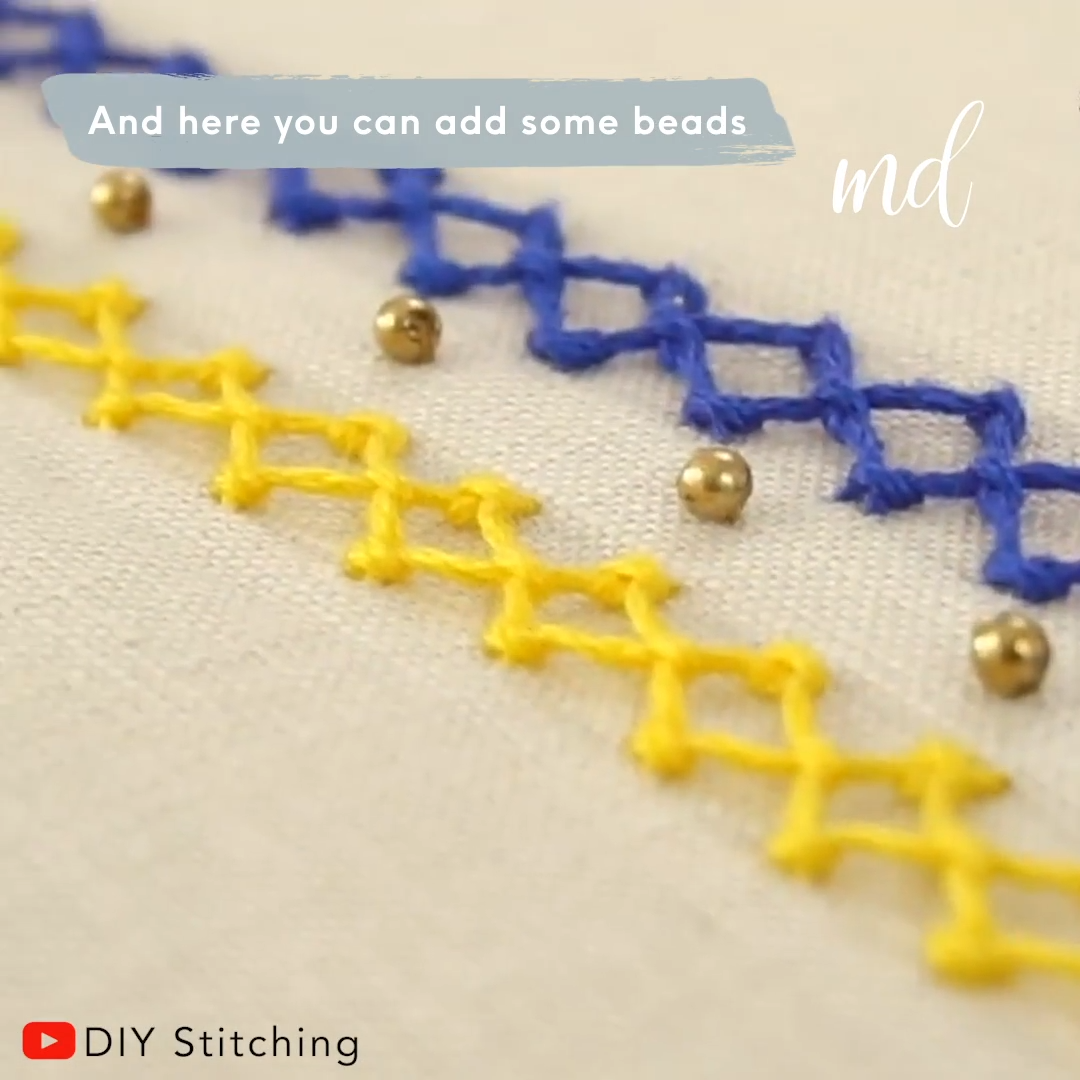 Ever thought to incorporate embroidery stitches on your clothes? BY: DIY Stitching