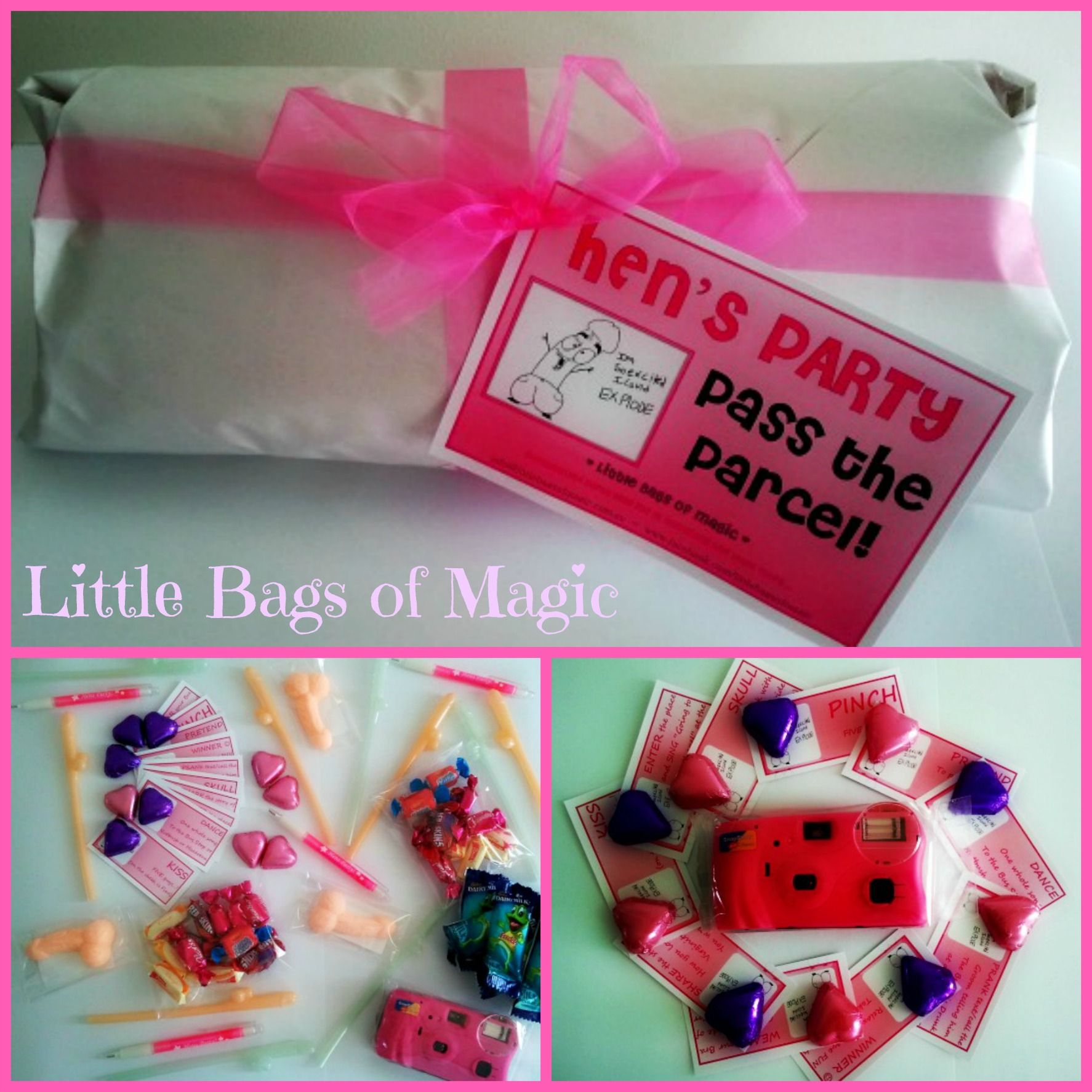 Naughty HEN'S PARTY Pass The Parcel...loads Of Goodies For