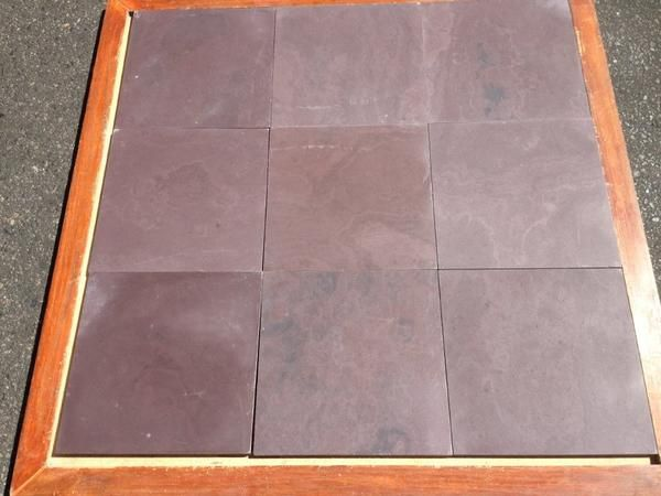 Best Chocolate Burgundy Slate Tile Polished Tiles Slate Tile Shaker Style Kitchens 400 x 300