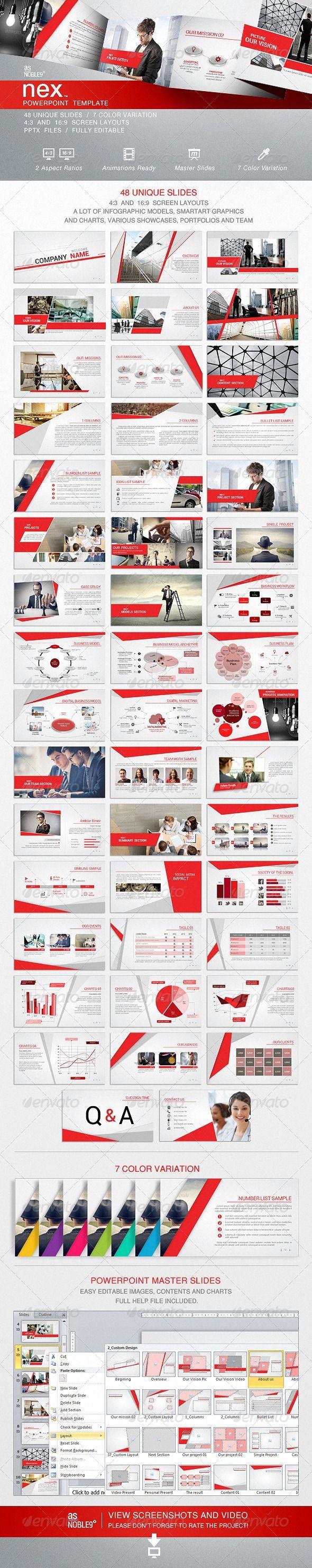 NEX - PowerPoint Template - Business Powerpoint Templates #infographics