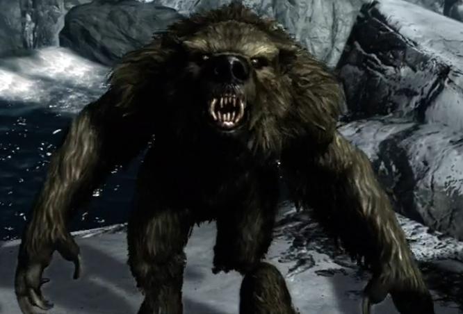 Werebear Dragonborn Elder Scrolls Werewolf Lycanthrope
