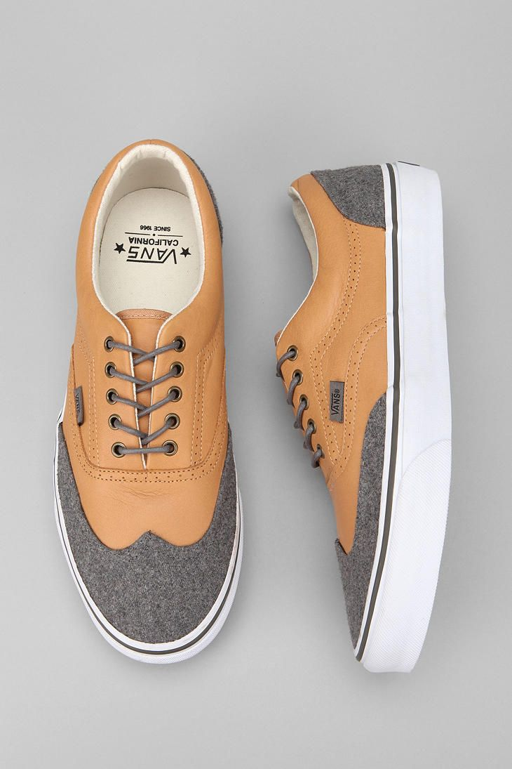 california leather and wool era wingtip sneaker ++ vans