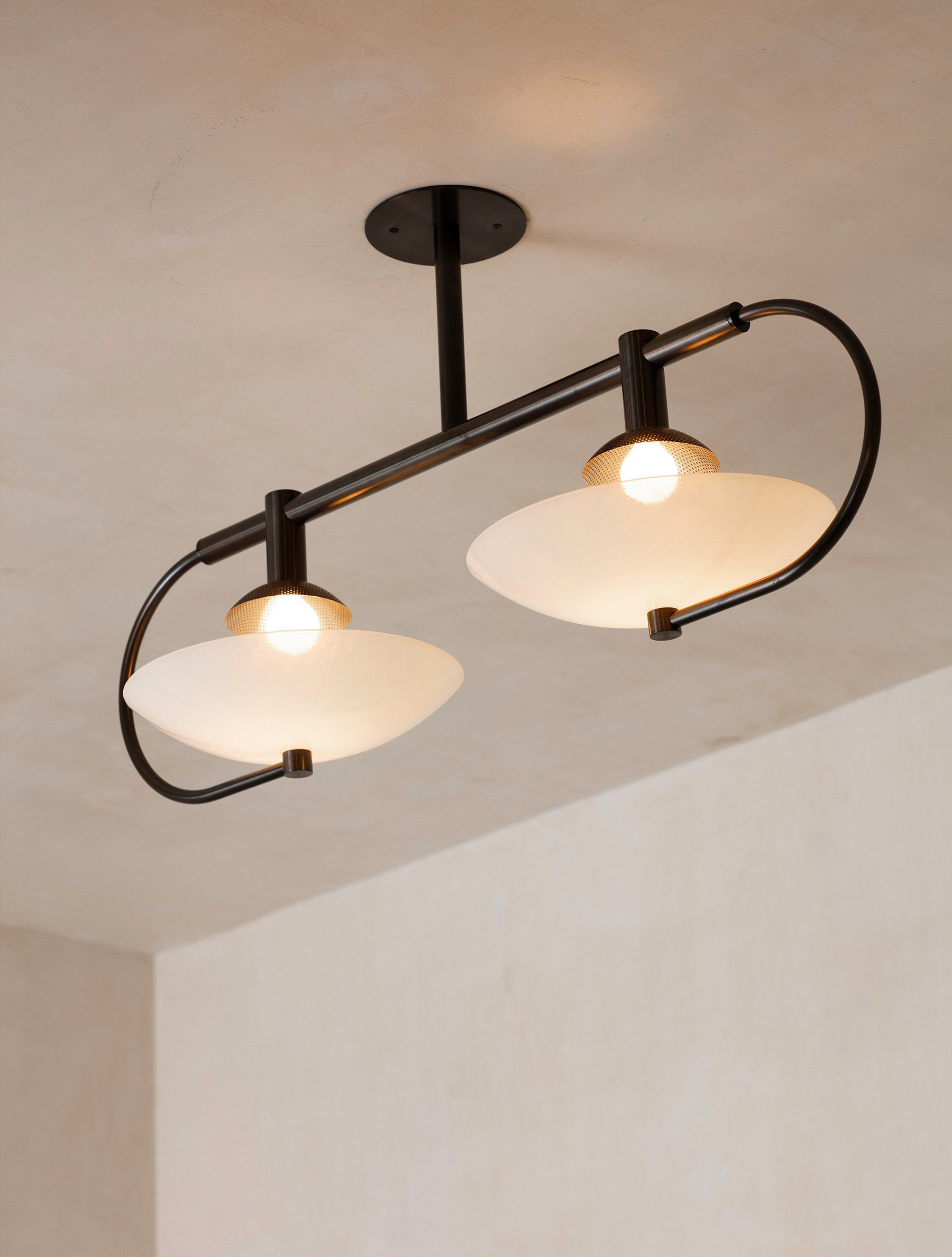 Aperture Double Raw Brass Skytek In 2021 Bulb Pendant Light Lighting Inspiration Glass Dome Cover