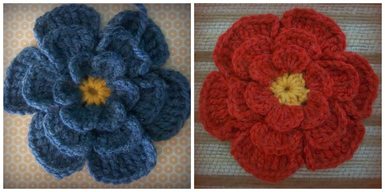 Big Flower Crochet Brooch: Pattern (Zooty Owl\'s Crafty Blog ...