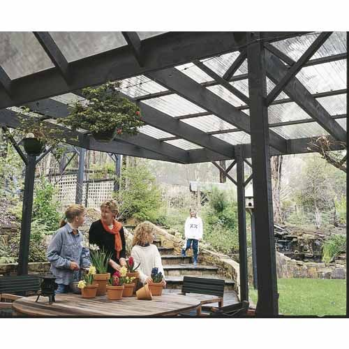 Solasafe Clear Corrugated Polycarbonate Sheeting 3000 L X 760mm W Mitre 10 Pergola Gazebo Roof Pergola With Roof
