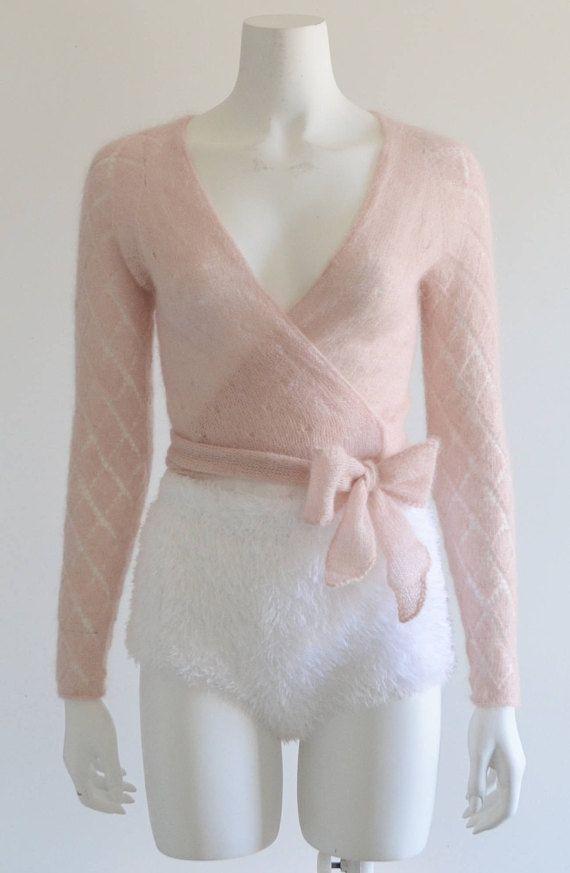 c35032702 Ballet Clothes, Wrap Cardigan, Blush Pink, Hand Knitting, Ballerina, Bell  Sleeve