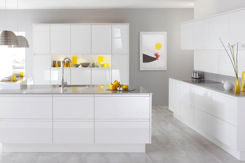 Glossy white kitchen. Caple - Kitchens   HOUSE   Pinterest