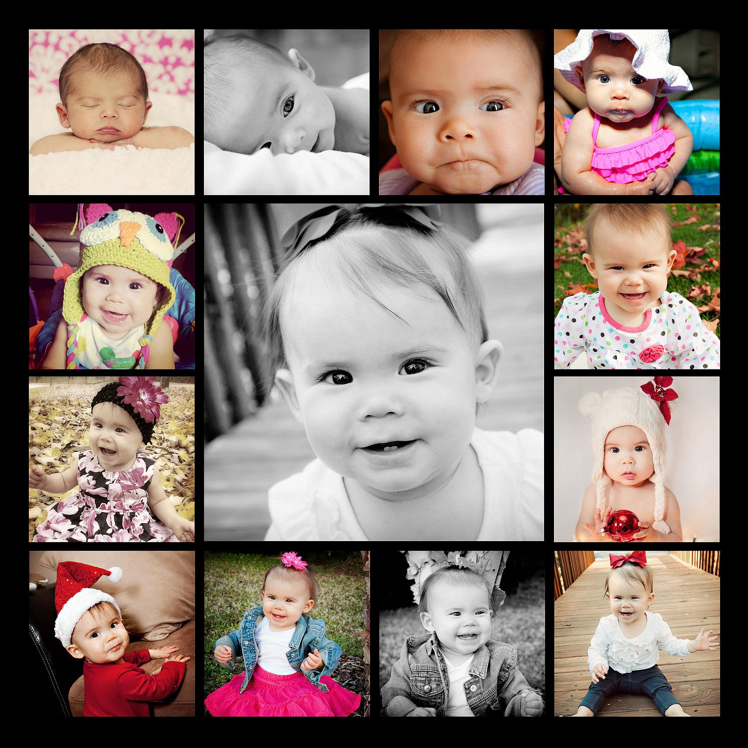 12 month photos for canvas | Amber Marie Photography | Pinterest ...