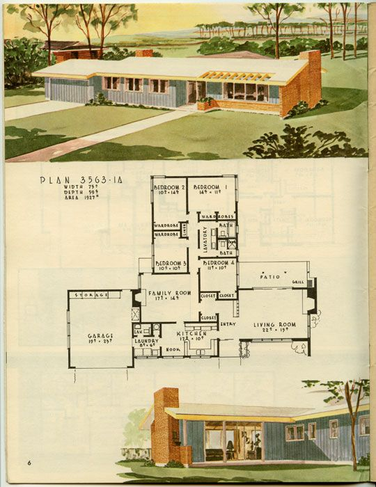 144 family room homes 1950s house plans ranch for 1950 bungalow house plans