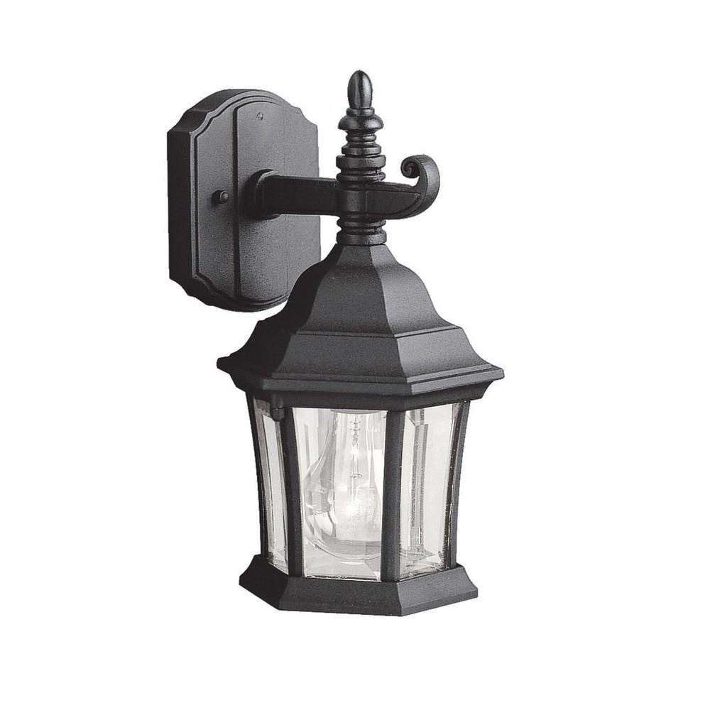 d32d565c8cb Kichler Lighting - 9788BK - Townhouse - One Light Outdoor Wall Bracket