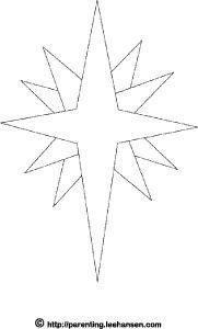 Pin By Svetlana Prohorenko On Woodland Christmas Star Of Bethlehem Christmas Coloring Pages Star Template