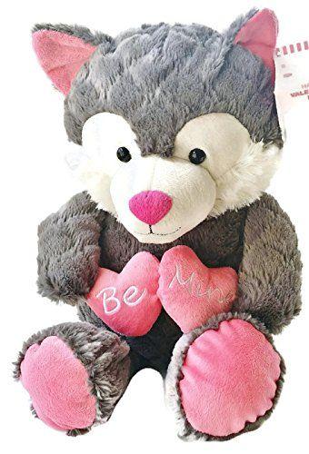 Hey Foxy Be Mine 18 Plush Gray Fox By Animal Adventure
