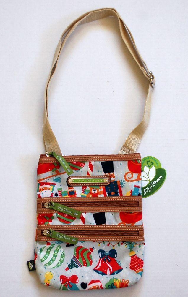 Lily Bloom NEW Purse Cross Body Bag Zipper Pockets Christmas ...