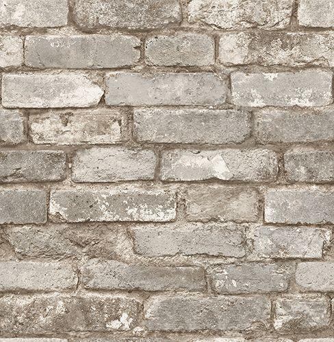 PAPIER PEINT BRIQUES TAUPE Code BMR  049-6933 brick wall