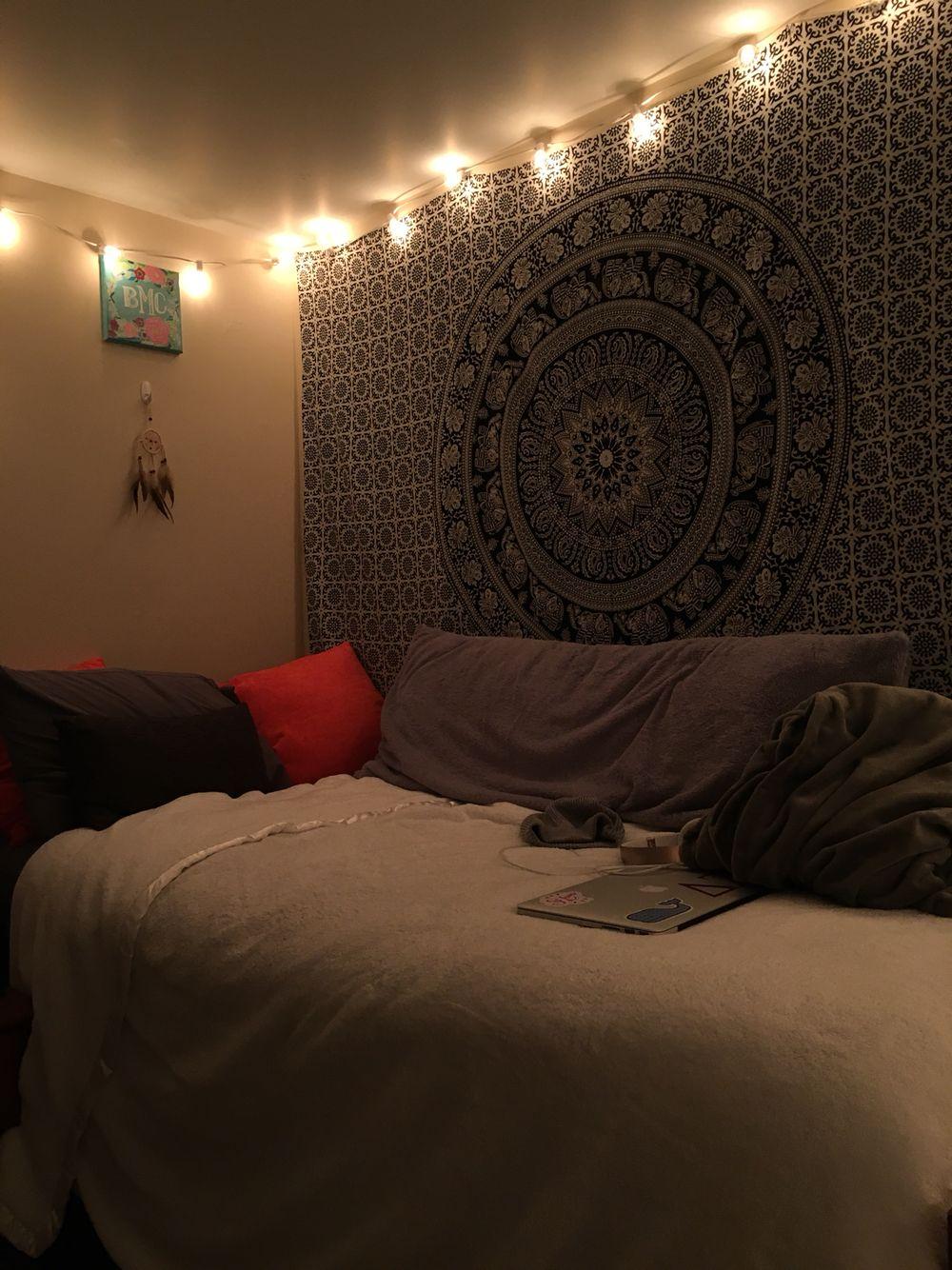 Hipster Tapestry Aesthetic Light Dorm Room Room Dorm Room Home