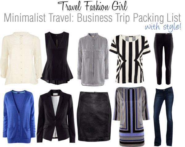 Business Trip Packing List for Minimalist Fashionistas Minimalist - Business Trip Packing List