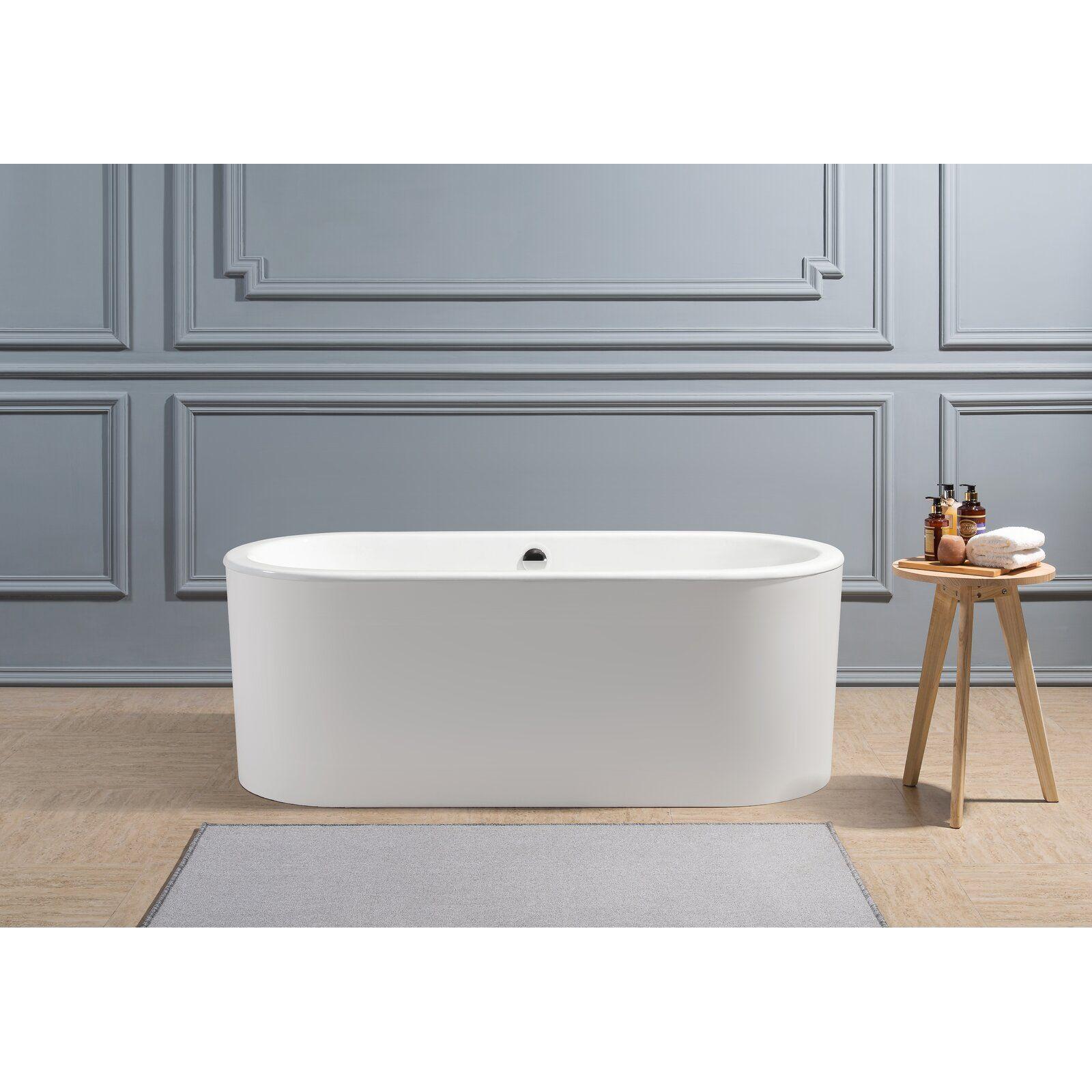 Cast Iron 67 X 30 Freestanding Soaking Bathtub With Images