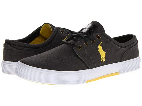 polo ralph lauren faxon low black/active yellow  zappos