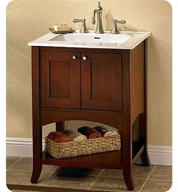 "Fairmont Designs Shaker 24"" Transitional Dark Cherry Bathroom Magnificent Cherry Bathroom Vanity 2018"