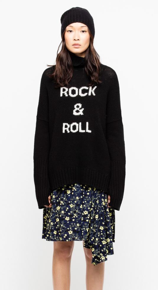 comparer les prix joli design ventes spéciales Pull col roulé noir femme Zadig&Voltaire, en laine mérinos ...