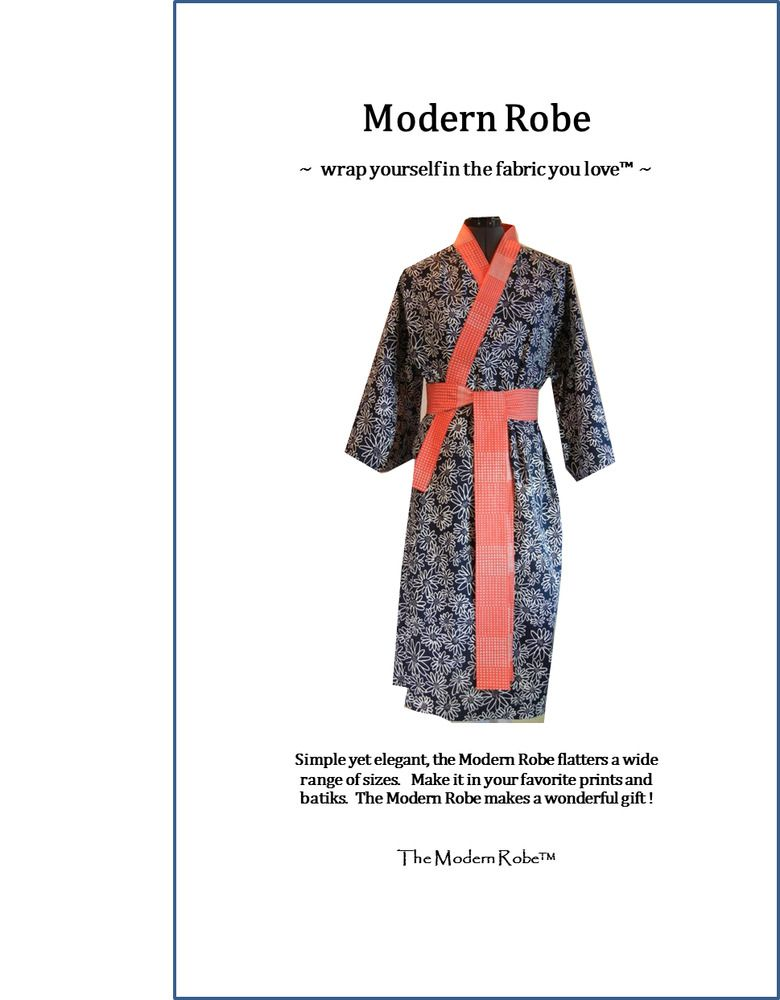 Modern Robe Sewing Pattern for Women and Men. Now shipping to Canada ...
