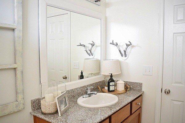 17 diy bathroom upgrades you can actually do decorate - How do you frame a bathroom mirror ...