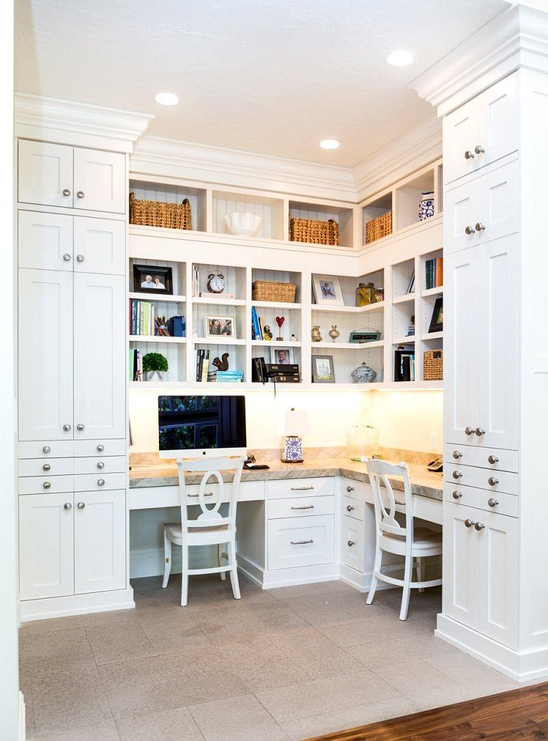 2019 Floor to Ceiling Office Cabinets - Custom Home Office Furniture ...