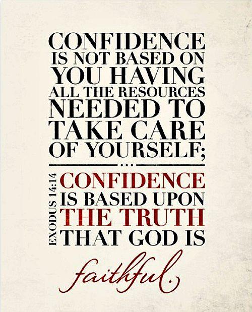 god is faithful provide confidence quotes faith in god