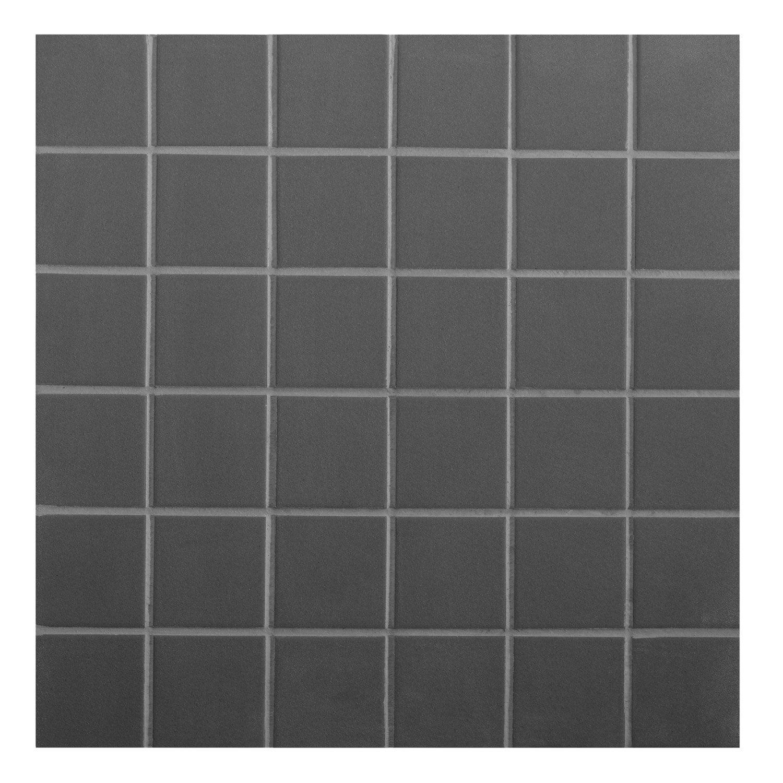 Des Sols Et Des Murs Avis mosaïque sol et mur strong noir 4.8 x 4.8 cm | sol et mur