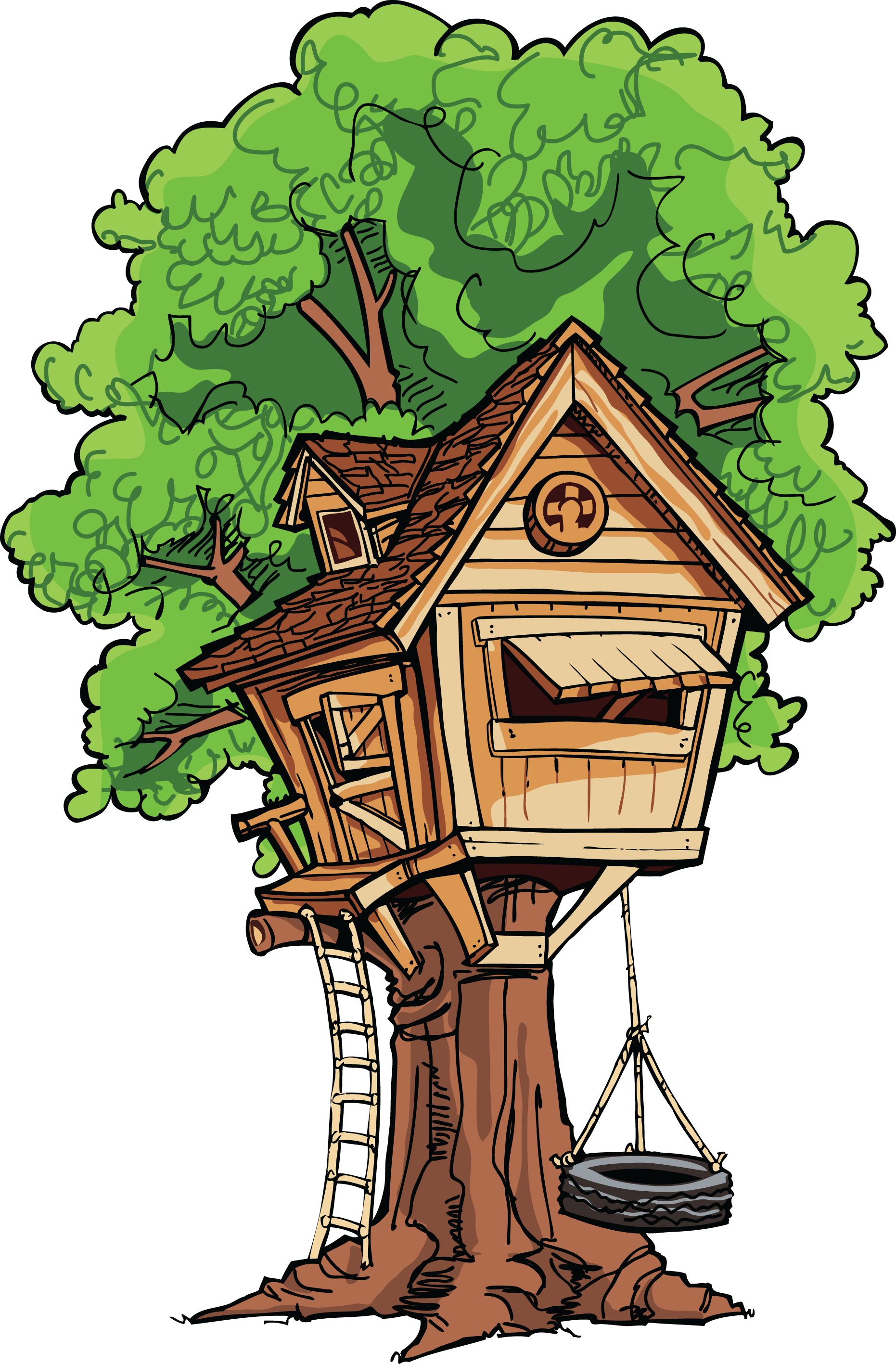 Image result for tree house clipart