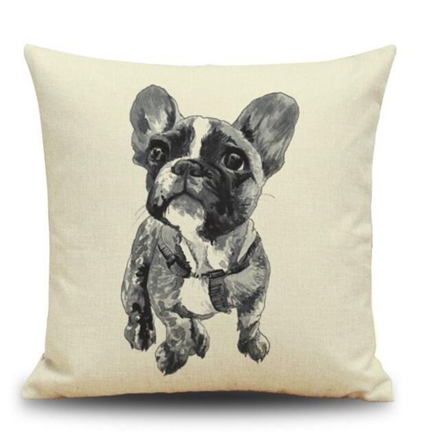 Bear pug dog dachshund cat animal decorative cushion cover vintage
