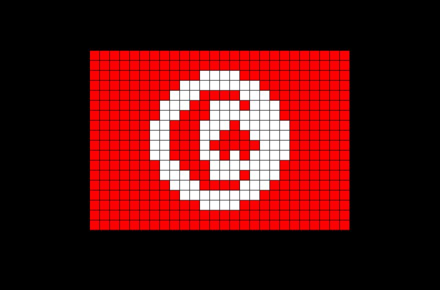 Flag Of Tunisia Pixel Art Pixel Art Drapeau Et Pixel