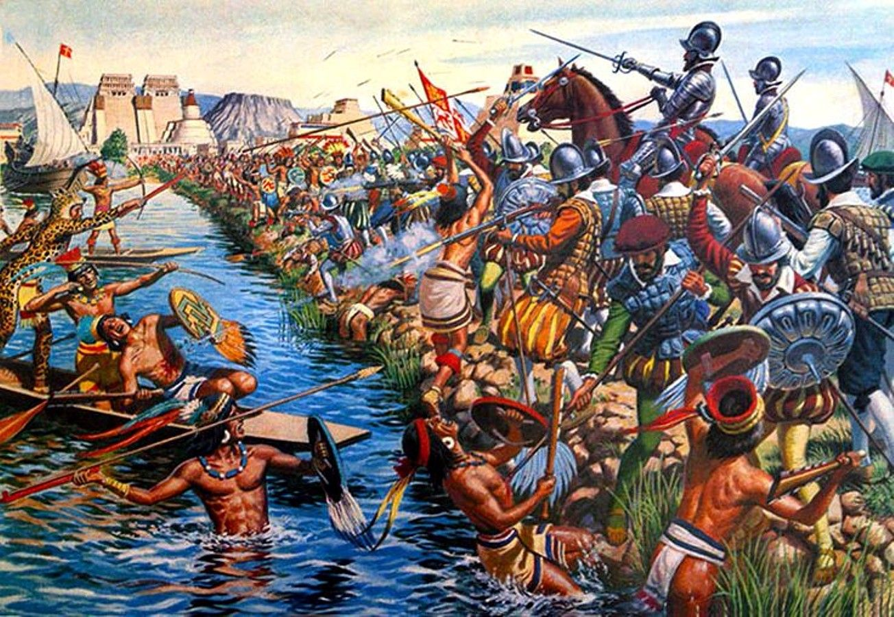 Fight on a Causeway of Tenochtitlán, Mexico