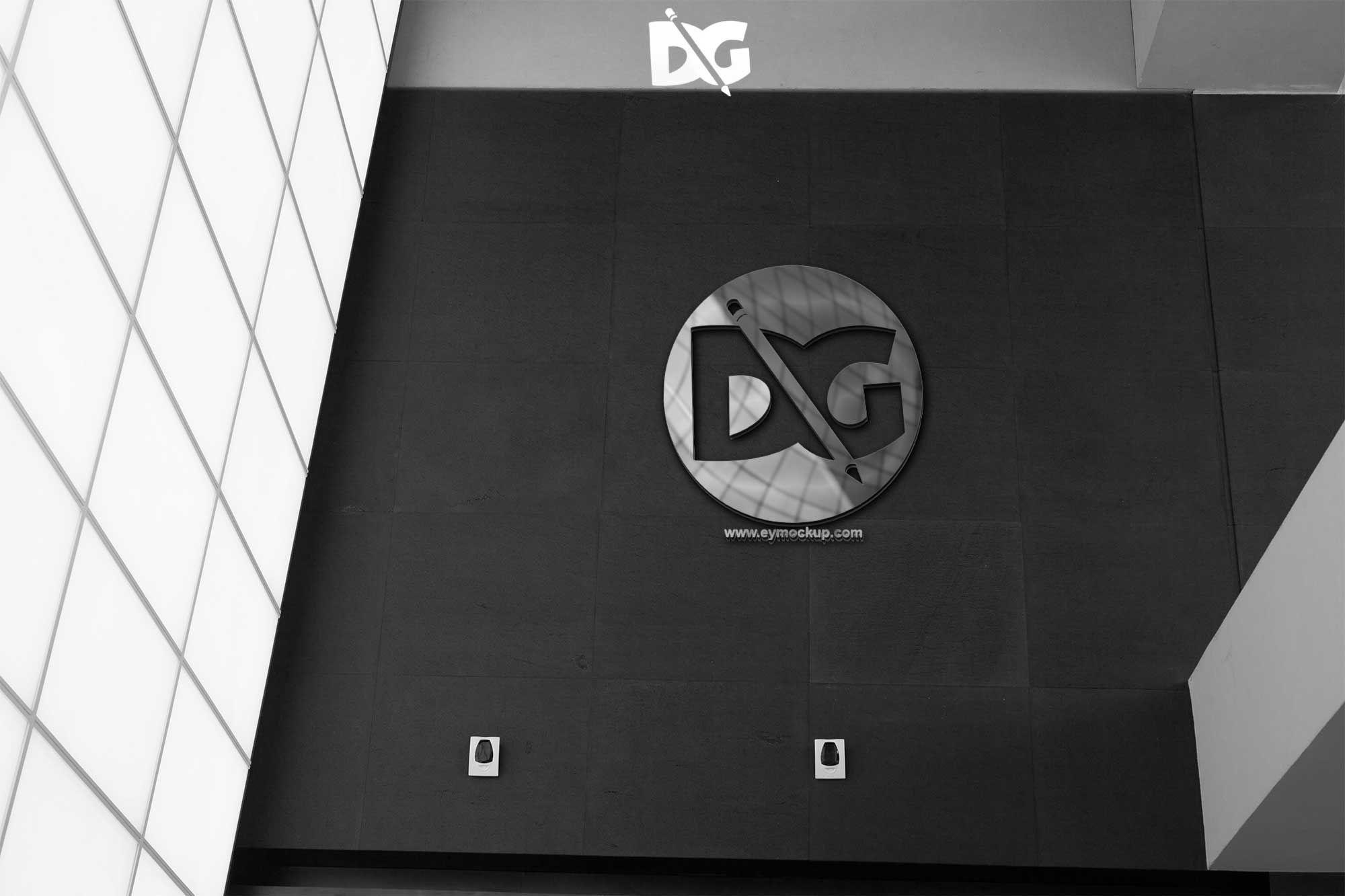 Company Wall Logo Mockup (With images) Logo design