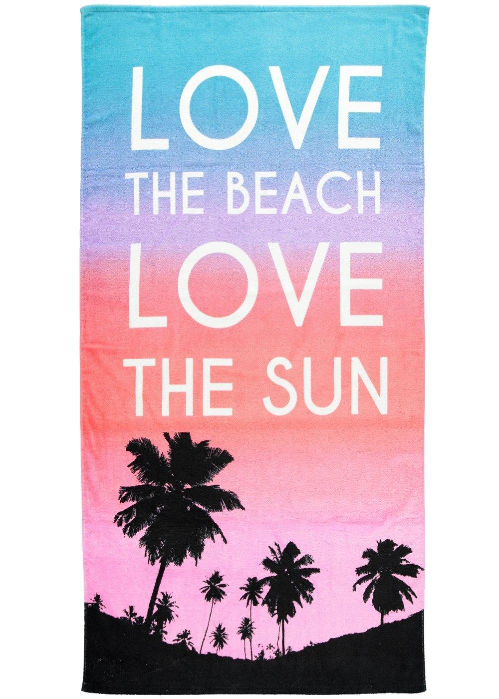 Love The Beach Oversized Beach Towel Cm X Cm Matalan