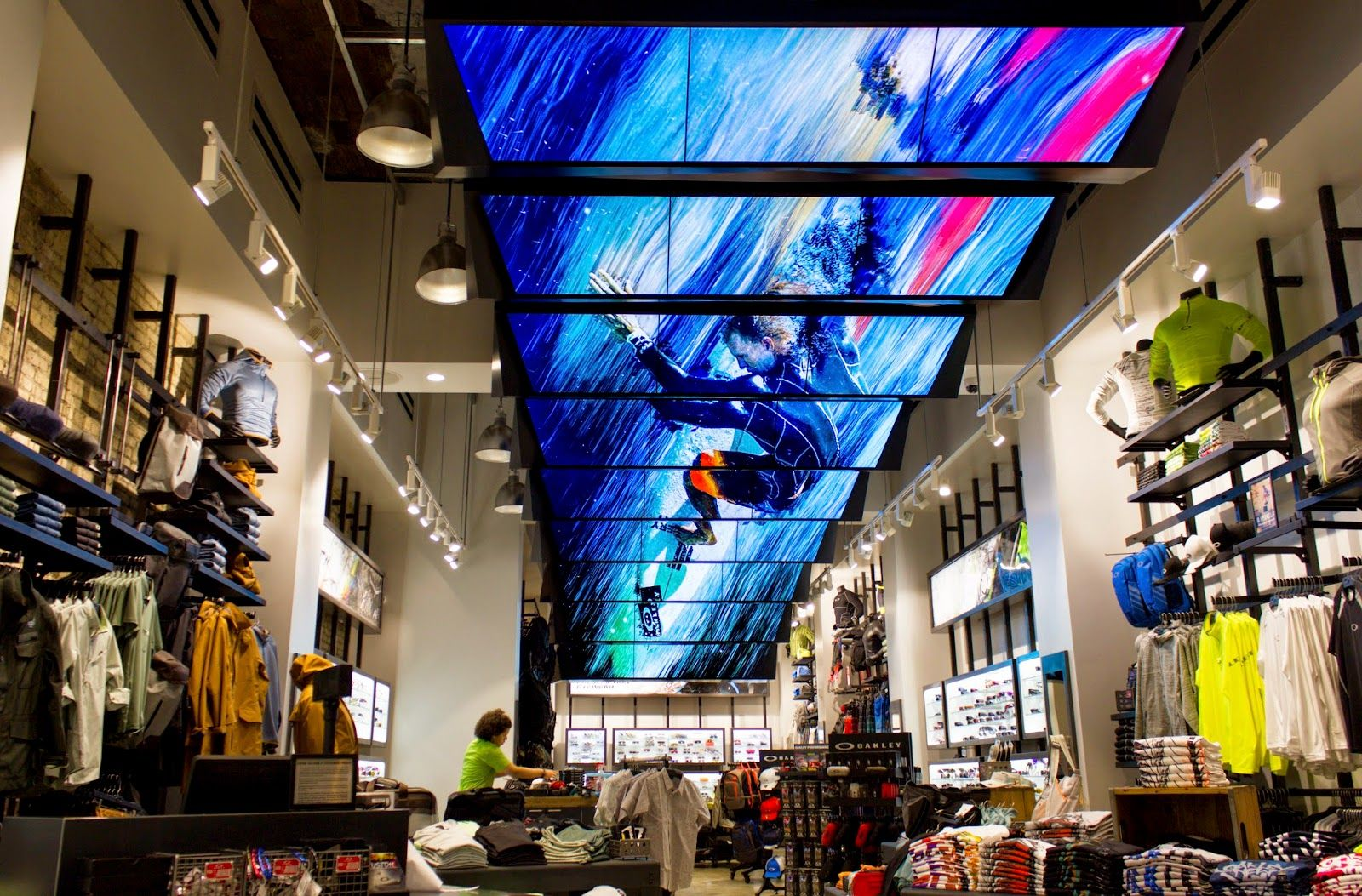 Oakley mandated Moment Factory to create a permanent installation for their  new flagship store on Avenue in New York City.