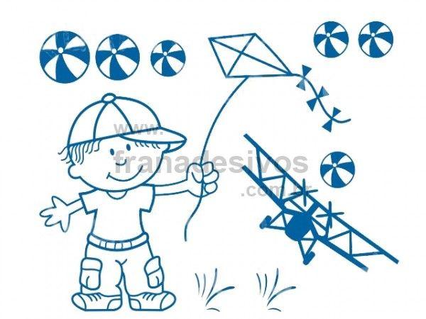 Conhecido Cartela - Menino soltando pipa | Meninos - inspiração | Pinterest  ZG04