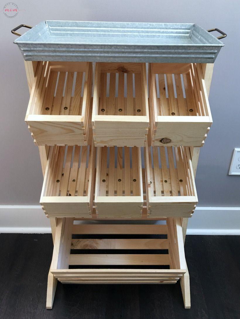 Farmhouse Style Produce Storage. Produce Stand DIY Tutorial With Farmeru0027s  Market Veggie Ideas!