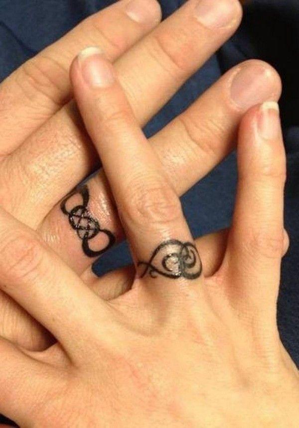48 Sweet Wedding Ring Tattoos ring tattoos Pinterest Wedding